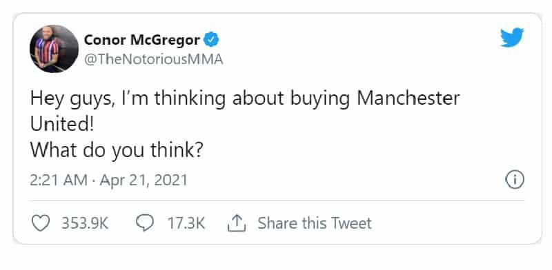 mcgregor tweet แมนยู ราคาคุย ข่าวฟุตบอล ทีเด็ดบอล